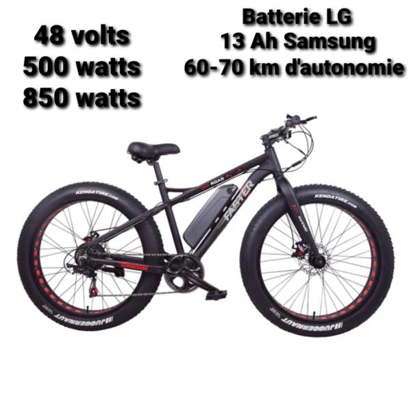 Vélo Fat Bike avec moteur électrique 48 Volts 500-800 Watts modèle KS-26