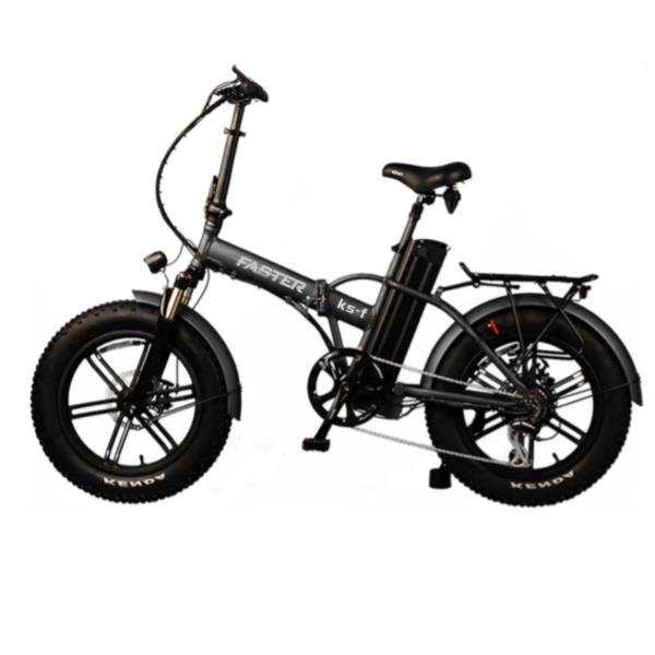 Vélo Fat Bike pliable électrique modèle KS-F de profil